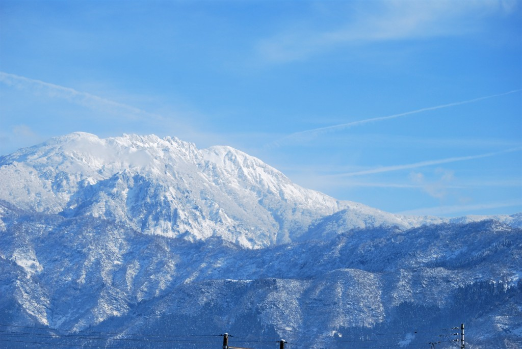 初冬の八海山